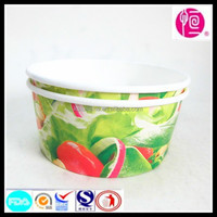 2015 Hot Selling Green and Healthy Vegetables and Fruits Printing Disposable Paper Packaging Container for Restaurant