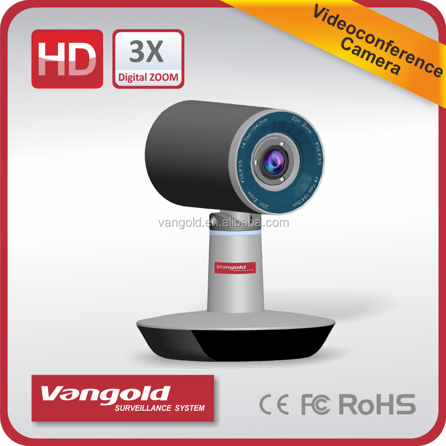 72 Degree Video Conference Camera FULL HD 1080P/720P, big zoon rate CCTV camera