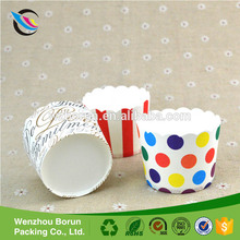 Custom printed new design ice cream dessert paper cups with logo