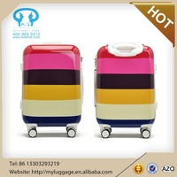4 wheels trolley ABS+PC trolley bag solar suitcase travelling bags trolley luggage