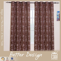 1PC YARN DYED LUXURY FABRIC WINDOW CURTAIN WITH GROMMETS FOR LIVING ROOM
