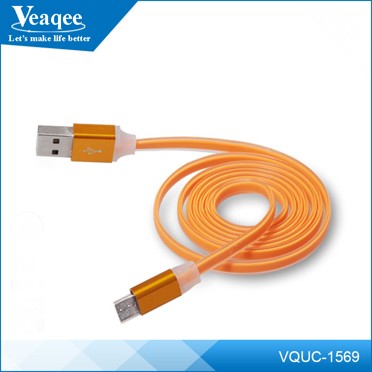 Veaqee mobile phone led usb lighting cable for samsung galaxy s3 mini