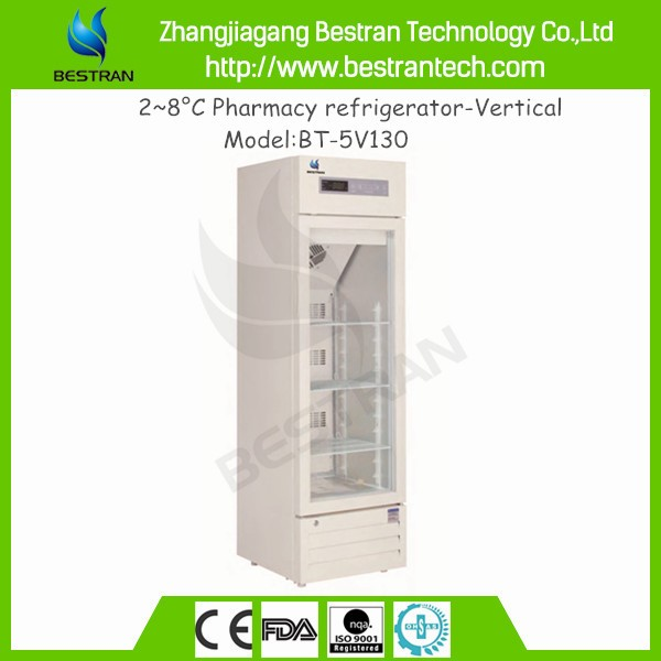China BT-5V130 2-8 degree Medical Vertical Pharmacy refrigerator, mortuary body refrigerators