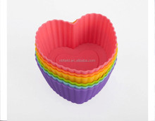 Heart shape silicone muffin cup/bake mold