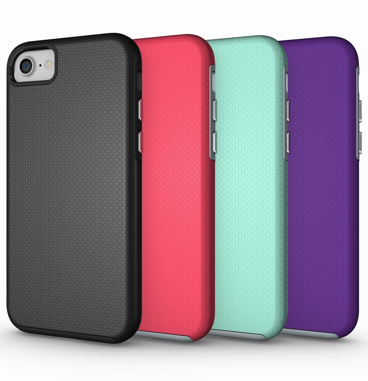 Wholesale Shockproof Ultra Thin Rugged Hard PC Soft TPU Cellphone Hybrid Custom Case For iPhone 8 & 8 Plus