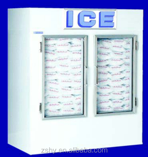 Outdoor Cold wall ice storage freezer bin with CE certificate