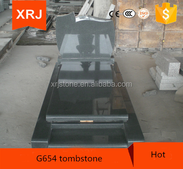 Top Quality G654 Granite Tombstone and Monument with Birds Carving