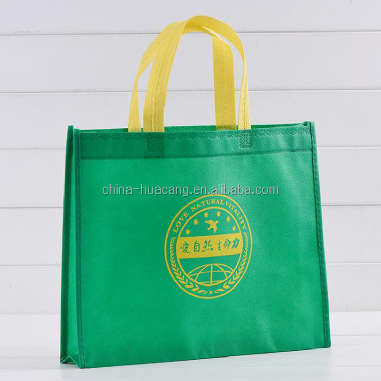 cheap recycled custom printing grocery tote shopping laminated non woven bag