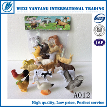 Animal like Fowl plastic figurne set PVC Chicken Duck Goose toys for kids OEM factory