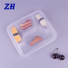 1000ml 4-compartment plastic leakproof food container