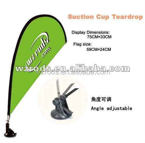 High Quality Mini Teardrop Wall Flags for Advertising Wall Mounted Flagpole Suction Flag Pole on Wall for Advertising
