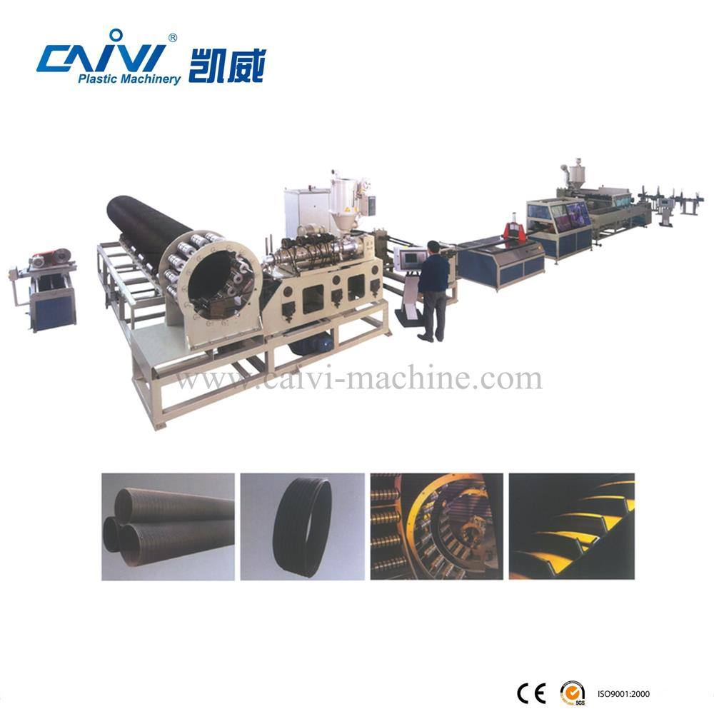 Large diameter HDPE twist/spiral pipe extruding/making machine