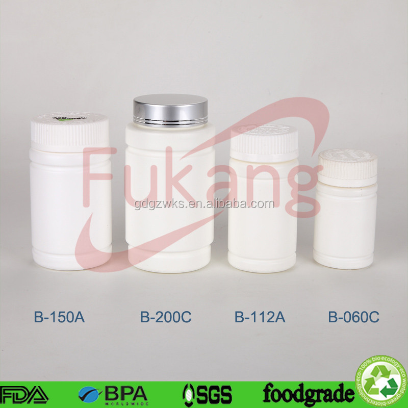 wholesale cylindrical round shape HDPE plastic pill white bottle packaging slim fast diet pill with CRC cap