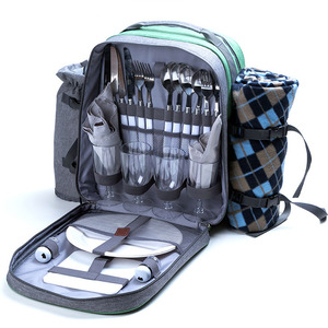 picnic cooler bag with side meah pocket