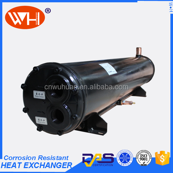 China Manufacturer 122KW Sea water cooled tube condenser, tube heat exchanger, condenser