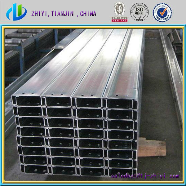 High quality galvanized c profile/ c purlin / steel channel for construction