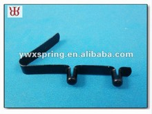 manufacturer black carbon steel push type twin button spring clip