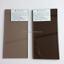 Colorful tinted tempered glass panel