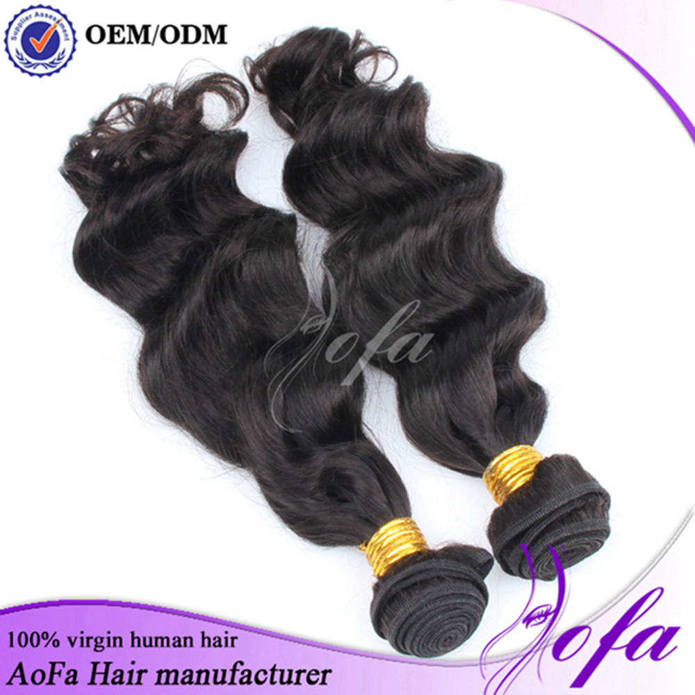 Promotion new double drawn clip in hair extension