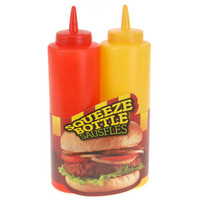 CB-3145 Ketchup And Mustard Plastic squeeze bottle