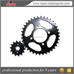 steel Motorcycle chain Sprocket used for suzuki motorcycle parts