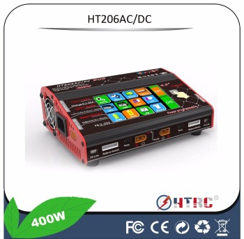 Top sales HT206ACDC duo port Lipo Touch charger with 4.3inch LCD display