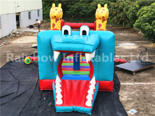 2017 Crocodile combo, inflatable animal bouncers, six flags inflatable jumper bouncer
