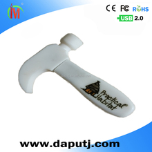custom-made usb flash drive special new design soft pvc usb thumb drive hammer shape