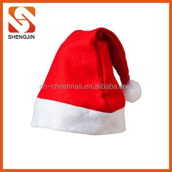 SJ-L6036 Cheap christmas decoration felt santa hat