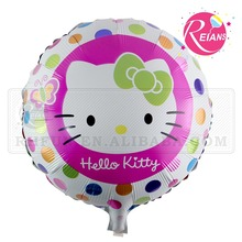 Reians customized 53*47cm cartoon baloon round hello kitty balloon party decoration ballon party supplies (Accept OEM,ODM)
