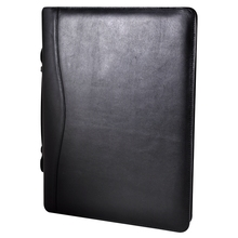 embossing conference A4 document leather file folder for interview