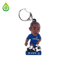 soft plush mini custom soccer keyring ball key chain keychain