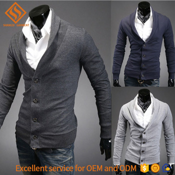 2017 Autumn latest sweater designs for men , men's long sleeve shrug knit cardigan sweater