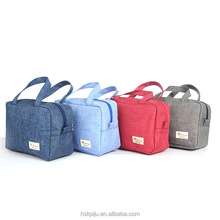 Wholesale square oxford travel toiletry tote bags with stitching logo