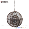 High quality custom lighting metal decorative modern hanging chandelier Metal wire Globe Chandelier