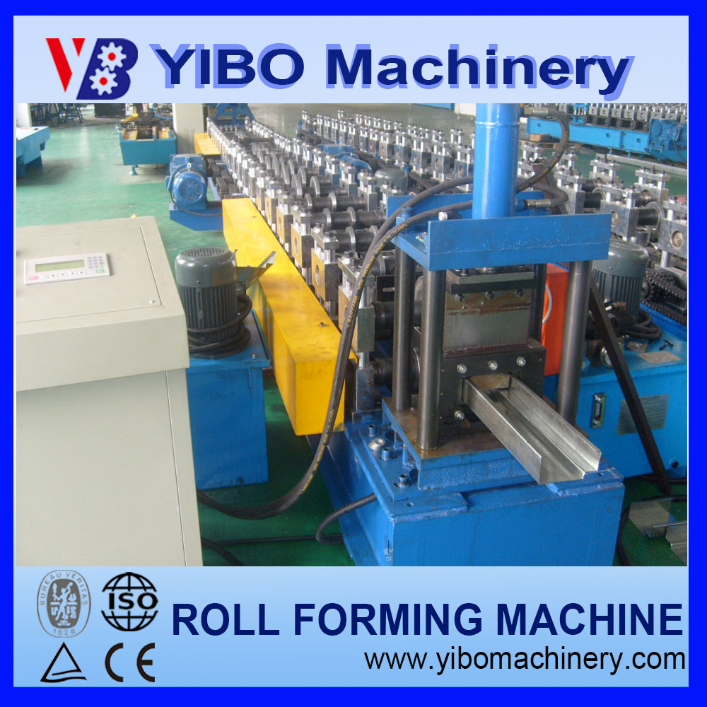YIBO machinery steel door frame roll press making machines