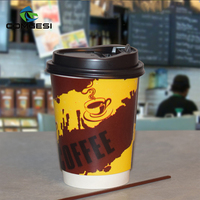 Factory Price Disposable Paper Coffee Store Printed Logo Double Wall Hot coffee vending machine cups