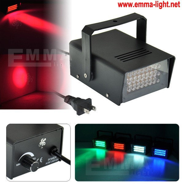 Nice Operated DJ Disco Party Stage Lighting Effects Light 24 LED Mini Strobe Light