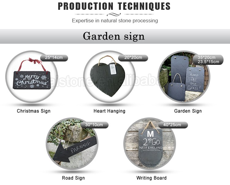 natural slate custom plant labels