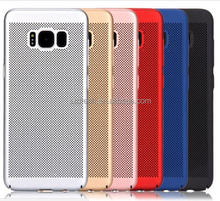 Galaxy S8 Hard PC Plastic Mesh Gridding Mobile Phone case for Samsung Galaxy S8 Plus cases PC02