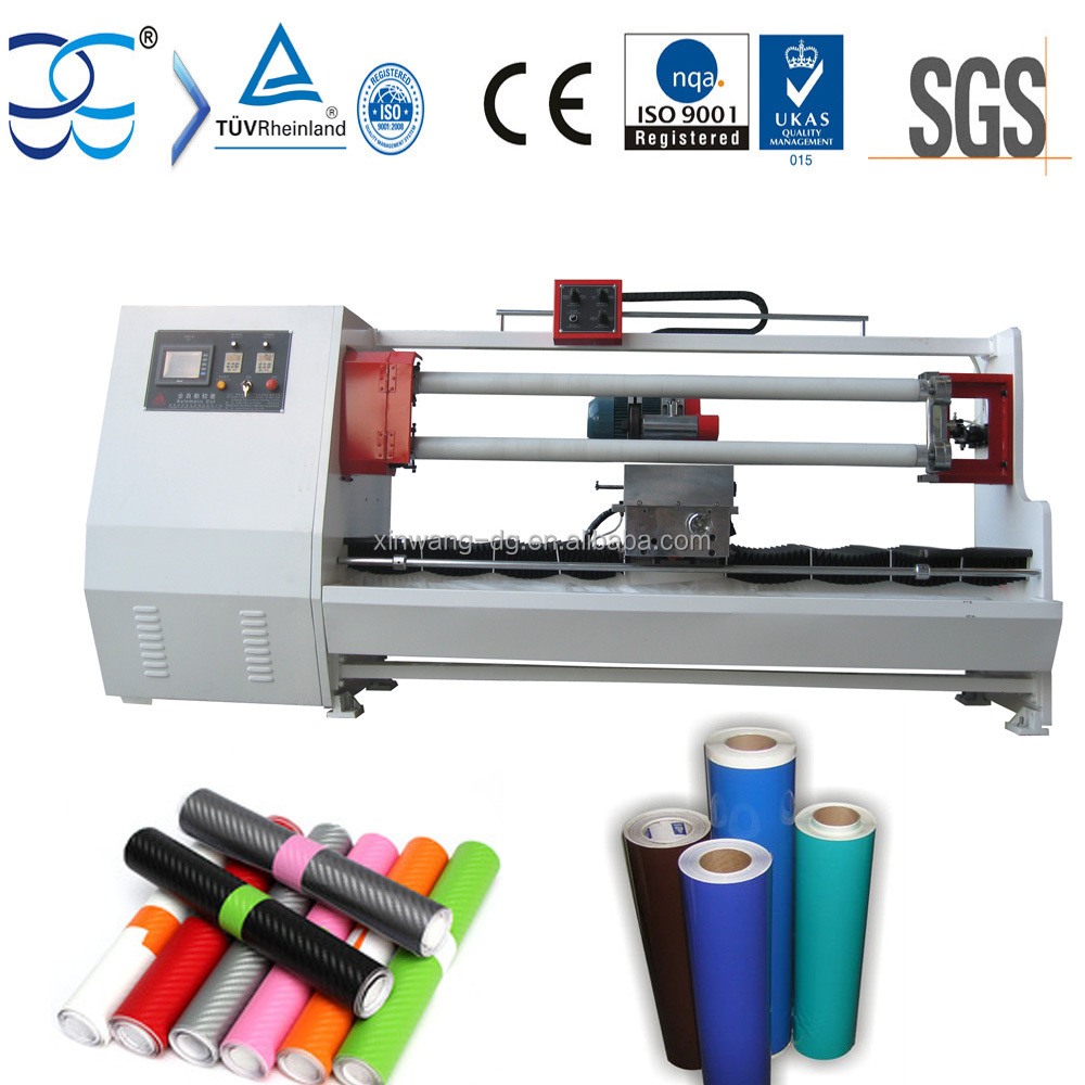 PVC Self Adhesive Sticky Vinyl Roll Cutting Machine