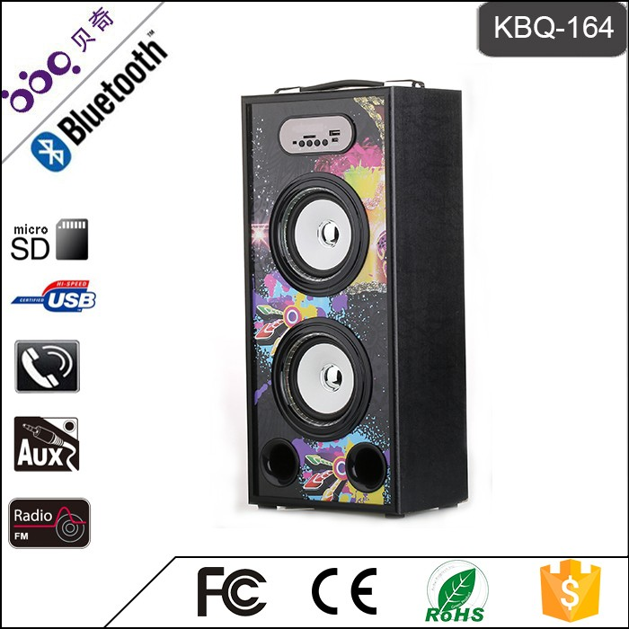 BBQ KBQ-164 20W 2000mAh High Fidelity Bluetooth 2.0 / 3.0 Portable MP3 Speakers