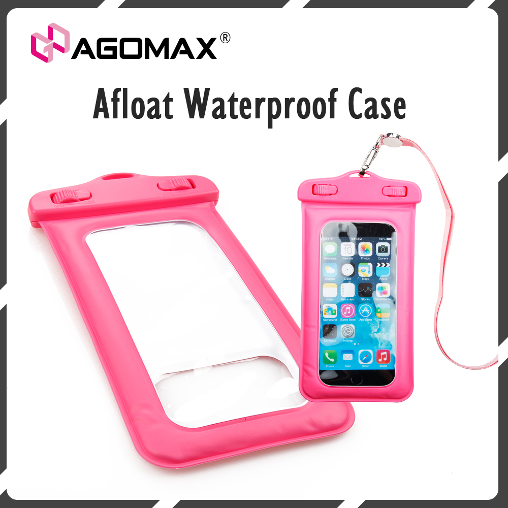 Custom funky plastic mobile phone pouch afloat waterproof case bag