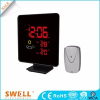 Corlorful Wireless Weather Station , outdoor clock with sensor