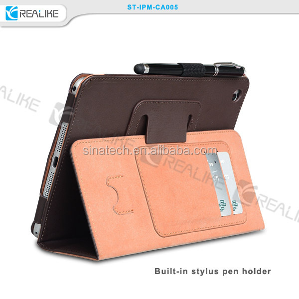 Excellent designed for ipad mini 3 leather pouch