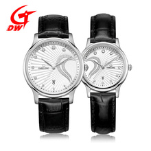 Popular lovers stainless steel with elegance desgin couple watch