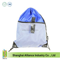 High quality school drawstring backpack with soccer pocket pouch