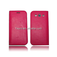 fashionable real leather flip cover for samsung galaxy grand duos i9082