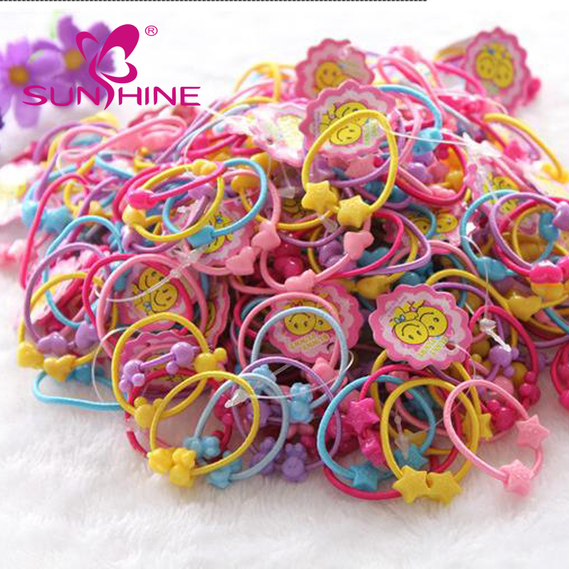 2 Pieces Of Candy Colored Animal Beaded Kids Wholesale Custom Elastic Hair Tie Band