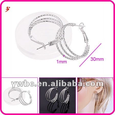 korea jewelery large brass earring for girls(E630574)